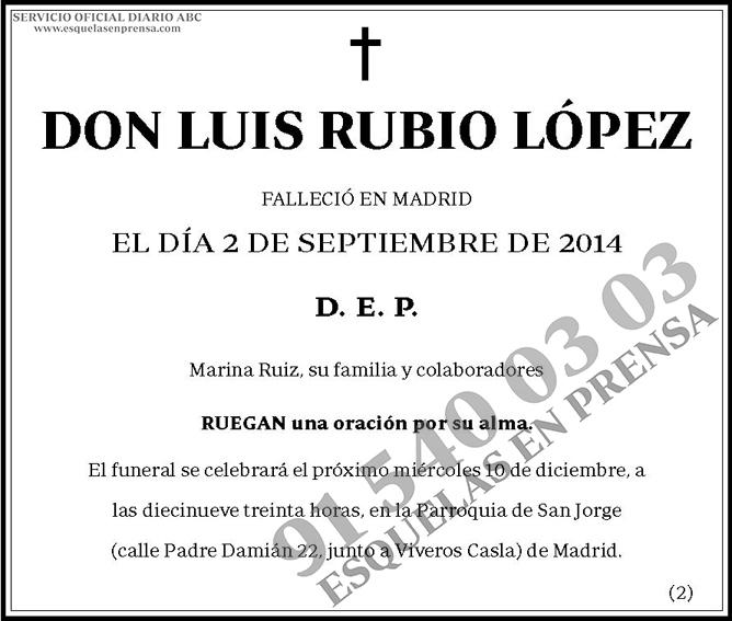 Luis Rubio López